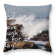 Sufficient Grace - Text Full Throw Pillow