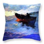 Suffolk Coast  Throw Pillow