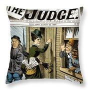 Suffrage Cartoon, 1884 Throw Pillow