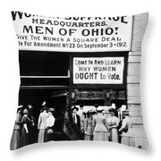Suffrage Headquarters Throw Pillow