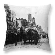 Suffrage Parade, 1913 Throw Pillow