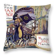 Suffragette Parade, 1913 Throw Pillow