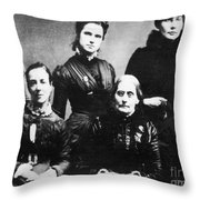 Suffragettes, 1888 Throw Pillow