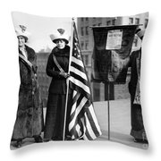 Suffragettes, C1910 Throw Pillow