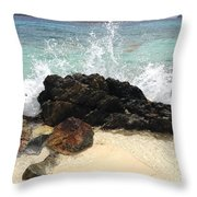 Sugar Beach Splash Throw Pillow