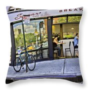 Sugar Breakfast  Throw Pillow