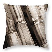 Sugar Cane - Sepia Throw Pillow