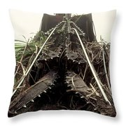 Sugar Cane Cutter Throw Pillow