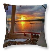 Sugar Islander II Sunrise -0054 Throw Pillow