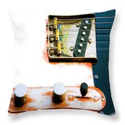 Sugar Kane Telecaster Throw Pillow