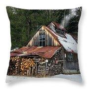 Sugar King's Smokehouse Throw Pillow
