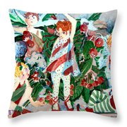 Sugar Plum Fairies Throw Pillow