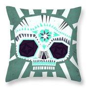 Sugar Skull IIi Throw Pillow