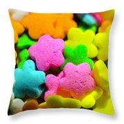Sugar Stars Throw Pillow