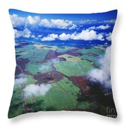 Sugarcane Fields In Central Maui Throw Pillow