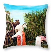 Sugarcane Worker 1 Throw Pillow