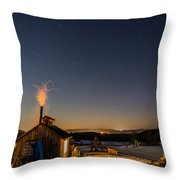 Sugaring View With Stars Throw Pillow