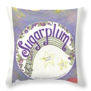 Sugarplum Logo Throw Pillow