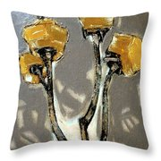Suggestion Of Orange Flowers  Throw Pillow