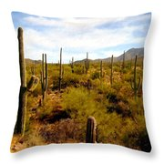 Suguro National Park Throw Pillow