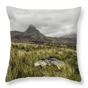 Suilven Mountain Throw Pillow
