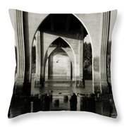 Suislaw River Bridge In Florence Oregon Throw Pillow