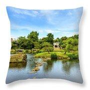 Suizenji Pond 2 Throw Pillow