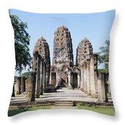 Sukhothai Khmer Sanctuary Throw Pillow