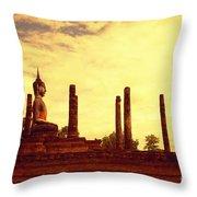 Sukothai Temple Throw Pillow