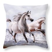 Sul Bagnasciuga Throw Pillow