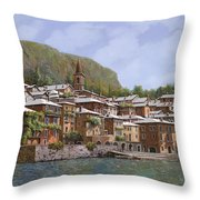 Sul Lago Di Como Throw Pillow