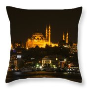 Suleymaniye At Night Throw Pillow