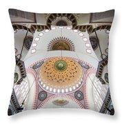 Suleymaniye Mosque Ceiling Throw Pillow