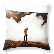 Sulfur Clouds Throw Pillow