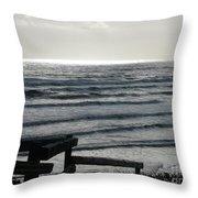 Sullen Seas Throw Pillow
