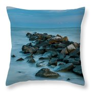 Sullivan's Island Rock Jetty Throw Pillow
