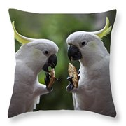 Sulphur Crested Cockatoo Pair Throw Pillow