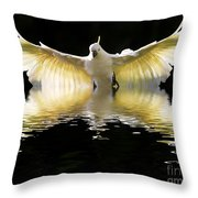 Sulphur Crested Cockatoo Rising Throw Pillow