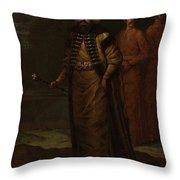 Sultan Ahmed IIi, Jean Baptiste Vanmour, C. 1727 - C. 1730 Throw Pillow