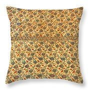 Sultan Ahmed Mosque Tiles Throw Pillow