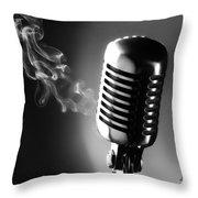 Sultry Black And White Throw Pillow