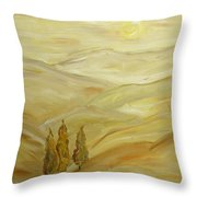 Sultry Day Throw Pillow
