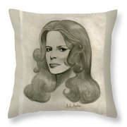 Sultry Smile Throw Pillow