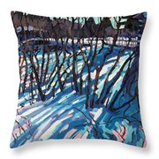 Sumac Snow Shadows Throw Pillow