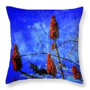 Sumac Tree Throw Pillow