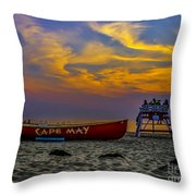 Summer Sunset In Cape May Nj Throw Pillow