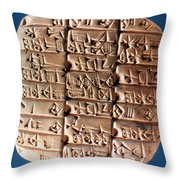Sumer Tablet Of Accounts Throw Pillow
