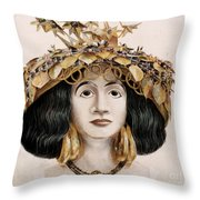 Sumerian Headdress Throw Pillow