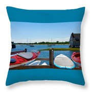 Summer Afternoon Boating Throw Pillow