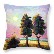 Summer Afternoon In The Fields Throw Pillow